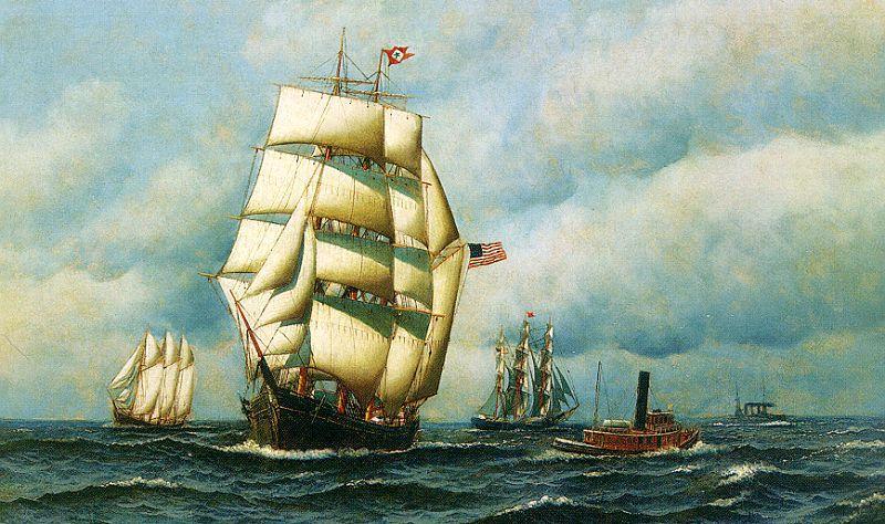 Antonio Jacobsen Onaway Sweden oil painting image.