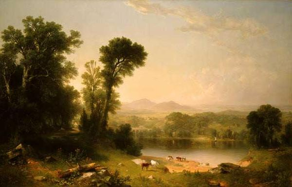 Asher Brown Durand Pastoral Landscape oil painting image