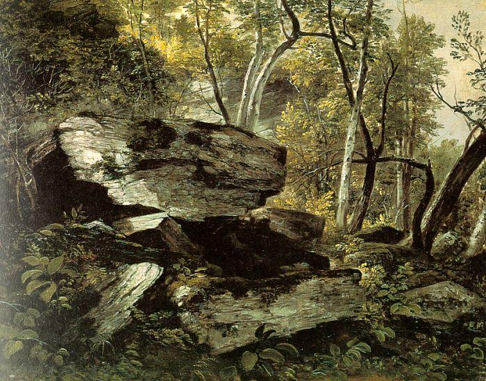 Asher Brown Durand Study from Rocks and Trees France oil painting art