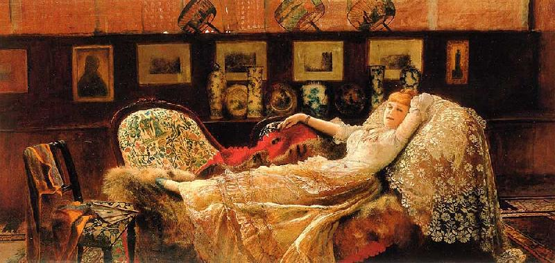 Atkinson Grimshaw Day Dreams oil painting image
