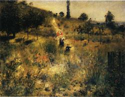 Auguste renoir Road Rising into Deep Grass oil painting image