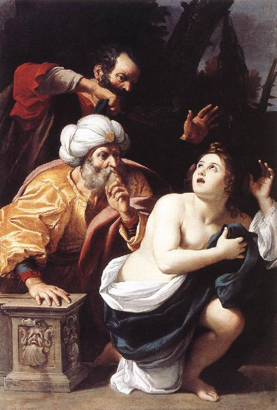 BADALOCCHIO, Sisto Susanna and the Elders  ggg France oil painting art