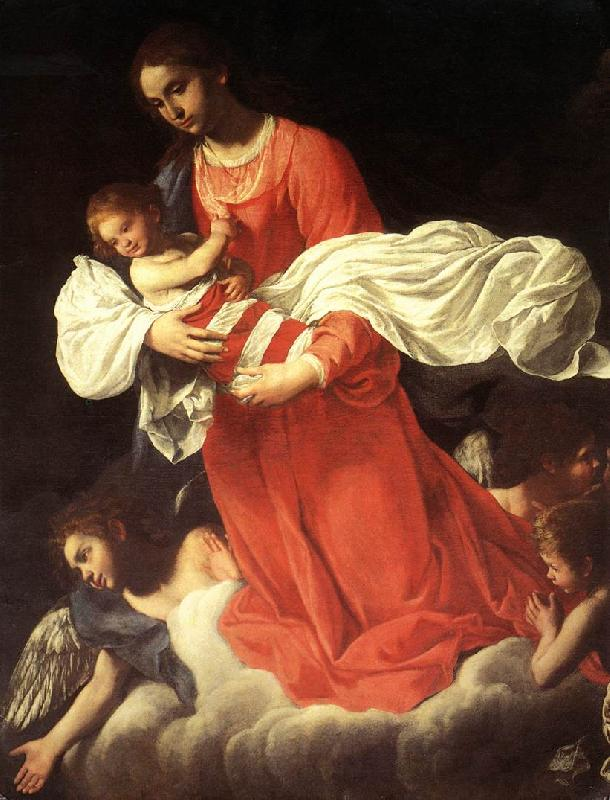 BAGLIONE, Giovanni The Virgin and the Child with Angels France oil painting art