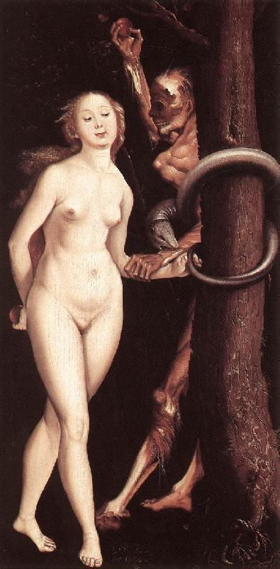 BALDUNG GRIEN, Hans Eve, the Serpent, and Death France oil painting art