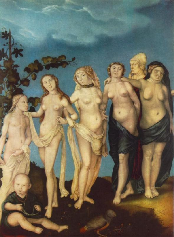 BALDUNG GRIEN, Hans The Seven Ages of Woman ww France oil painting art