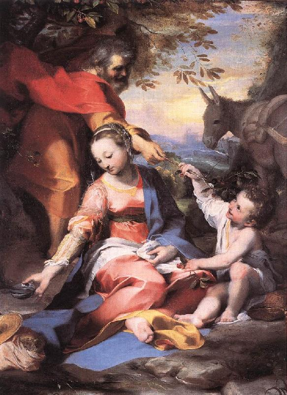 BAROCCI, Federico Fiori Rest on the Flight to Egypt sw France oil painting art