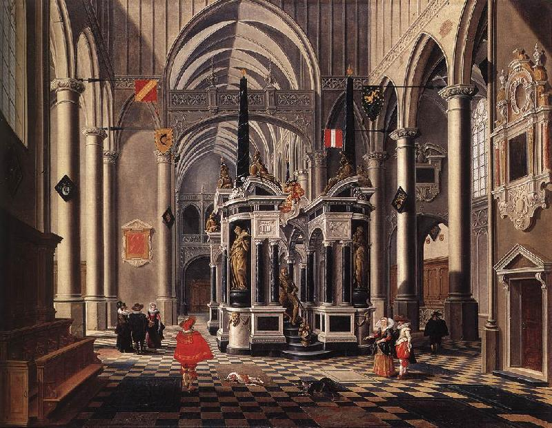 BASSEN, Bartholomeus van The Tomb of William the Silent in an Imaginary Church France oil painting art