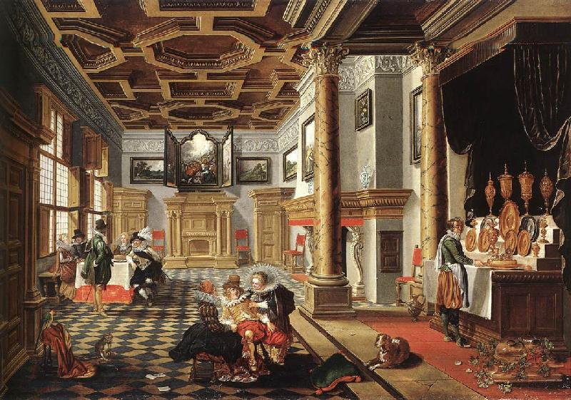 BASSEN, Bartholomeus van Renaissance Interior with Banqueters f France oil painting art