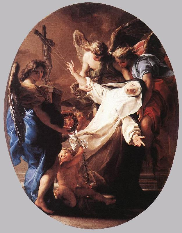 BATONI, Pompeo The Ecstasy of St Catherine of Siena France oil painting art