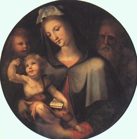 BECCAFUMI, Domenico The Holy Family with Young Saint John dfg France oil painting art