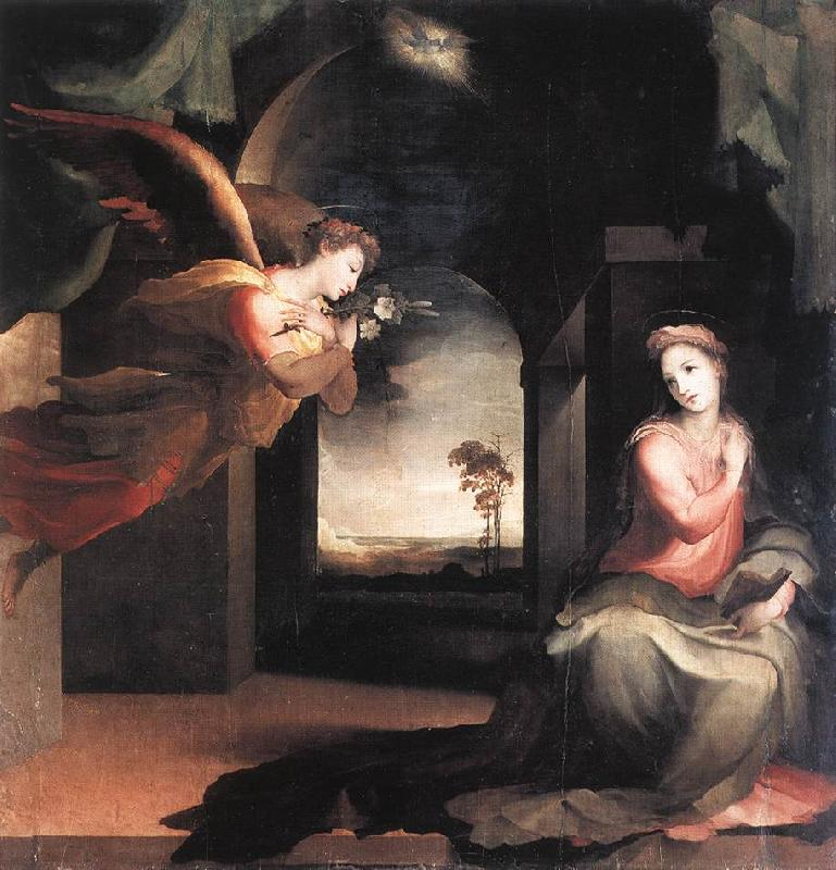 BECCAFUMI, Domenico The Annunciation  jhn France oil painting art