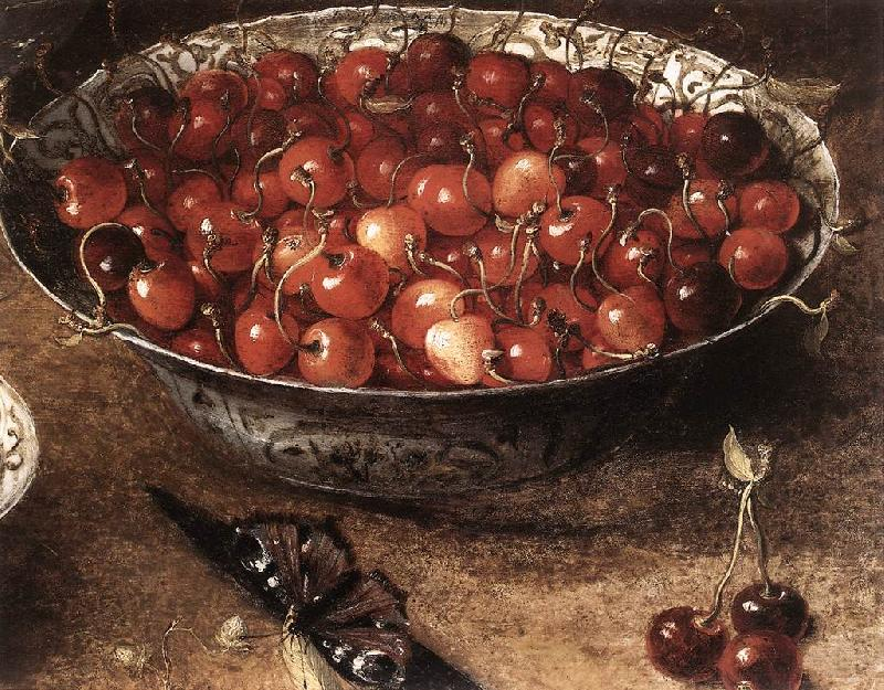 BEERT, Osias Still-Life with Cherries and Strawberries in China Bowls (detail) ghmh France oil painting art