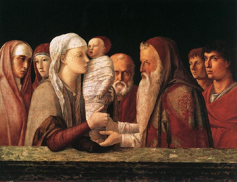 BELLINI, Giovanni Presentation at the Temple  yrfuy France oil painting art