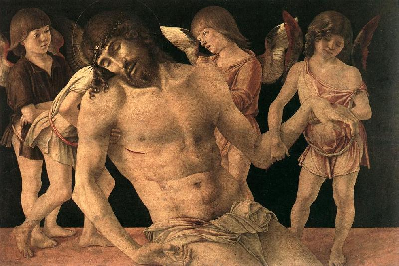 BELLINI, Giovanni Dead Christ Supported by Angels (Pieta)   3659 France oil painting art