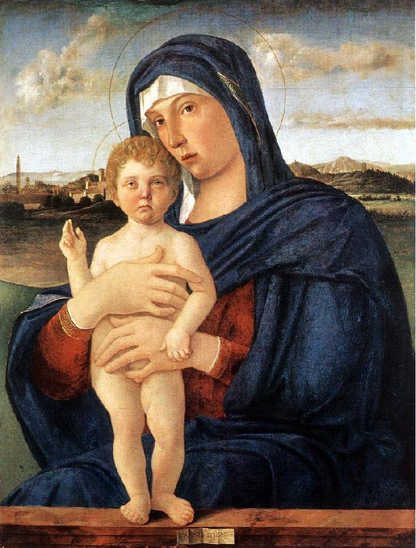 BELLINI, Giovanni Madonna with Blessing Child 23ru France oil painting art