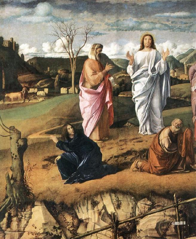 BELLINI, Giovanni Transfiguration of Christ (detail) 2 France oil painting art