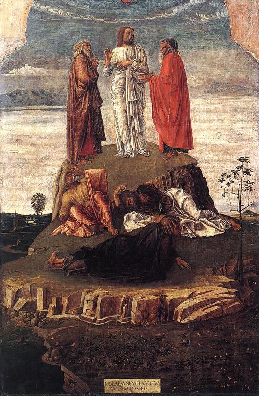 BELLINI, Giovanni Transfiguration of Christ se oil painting image