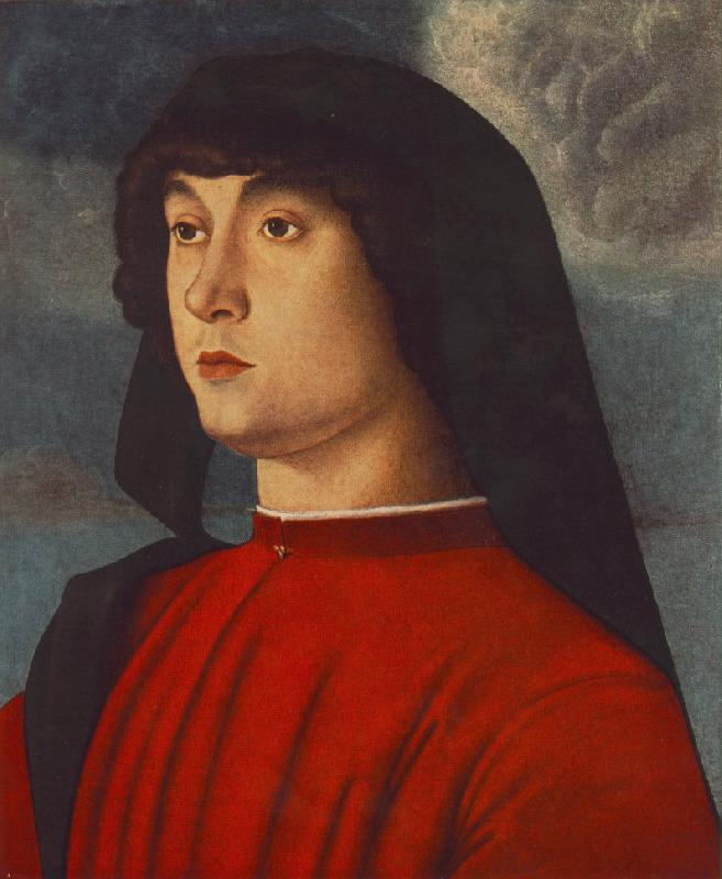 BELLINI, Giovanni Portrait of a Young Man in Red3655 France oil painting art