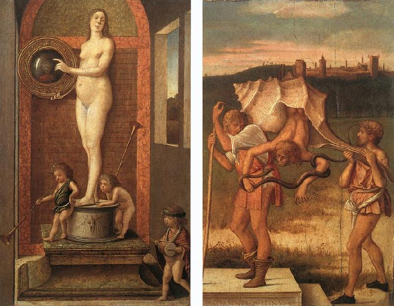 BELLINI, Giovanni Four Allegories: Prudence and Falsehood France oil painting art
