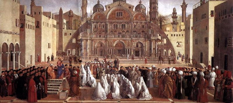 BELLINI, Giovanni Sermon of St Mark in Alexandria abc France oil painting art