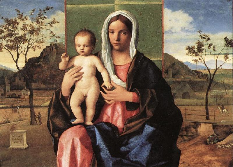 BELLINI, Giovanni Madonna and Child Blessing lpoojk France oil painting art