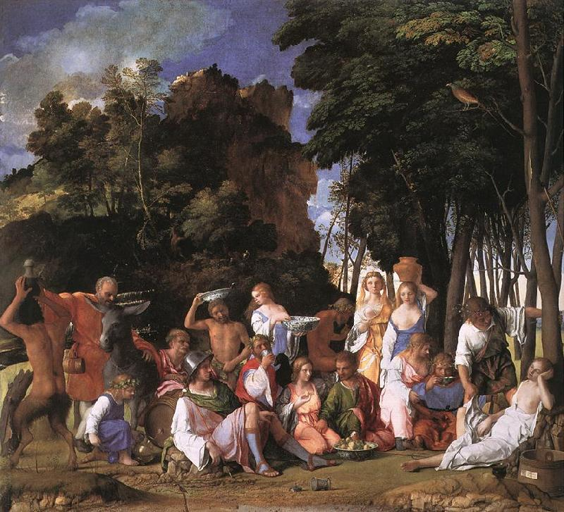 BELLINI, Giovanni The Feast of the Gods France oil painting art