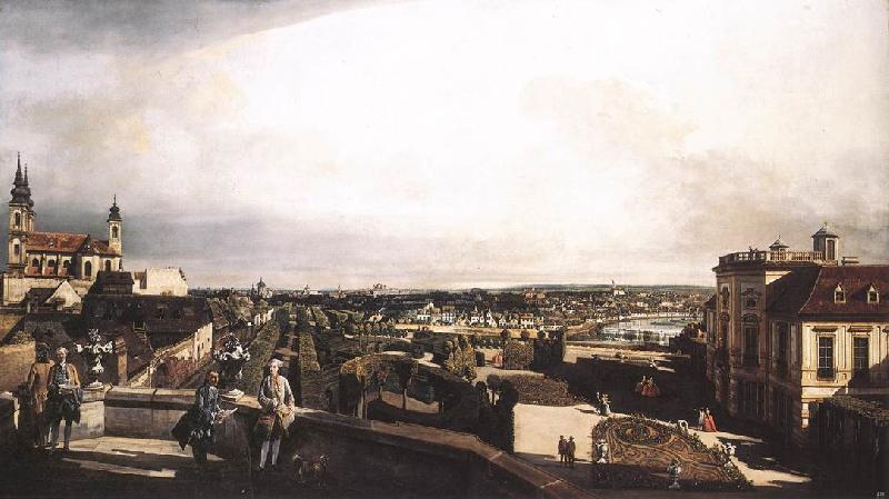BELLOTTO, Bernardo Vienna, Panorama from Palais Kaunitz ffg France oil painting art