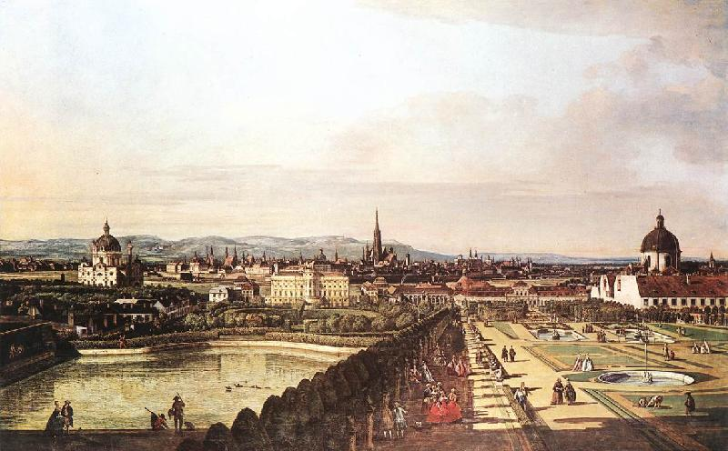 BELLOTTO, Bernardo View of Vienna from the Belvedere hjhk France oil painting art