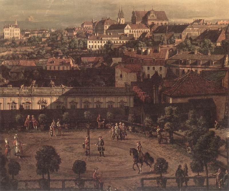 BELLOTTO, Bernardo View of Warsaw from the Royal Palace (detail) fh oil painting image