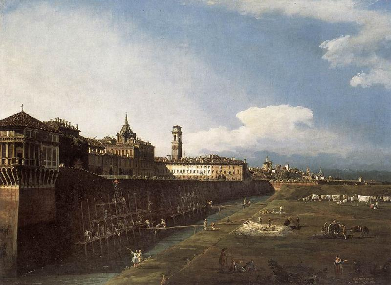 BELLOTTO, Bernardo View of Turin near the Royal Palace France oil painting art