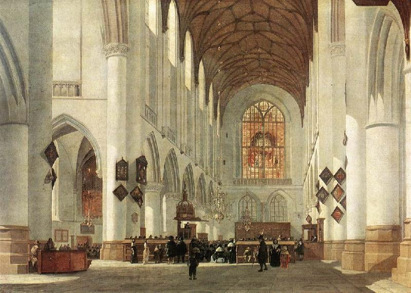 BERCKHEYDE, Job Adriaensz Interior of the St Bavo Church at Haarlem fs France oil painting art