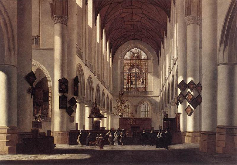 BERCKHEYDE, Job Adriaensz Interior of the St Bavo in Haarlem France oil painting art