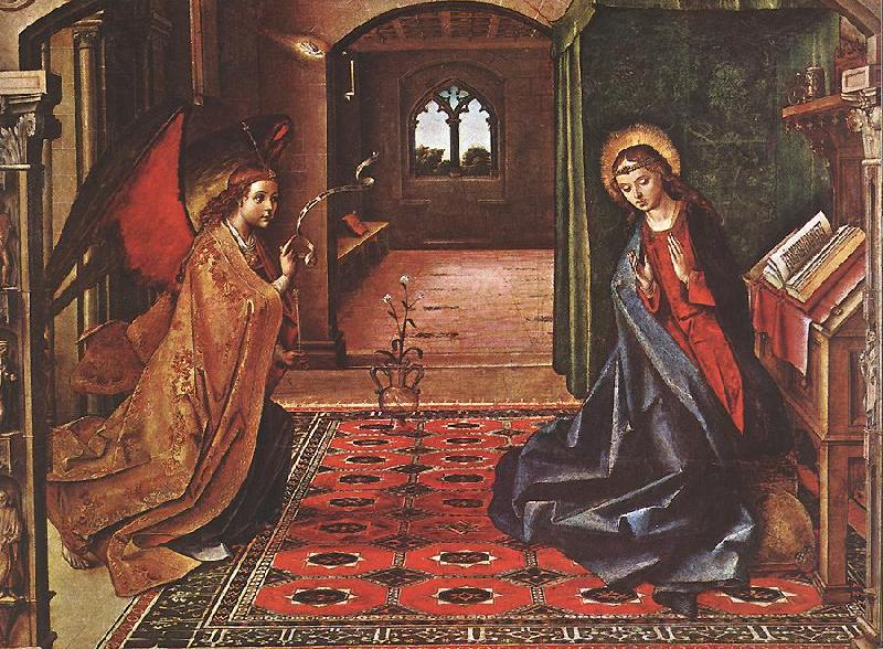 BERRUGUETE, Pedro Annunciation xnitte oil painting image