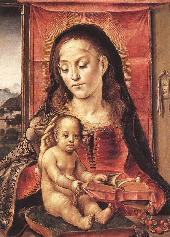 BERRUGUETE, Pedro Virgin and Child  inxt France oil painting art