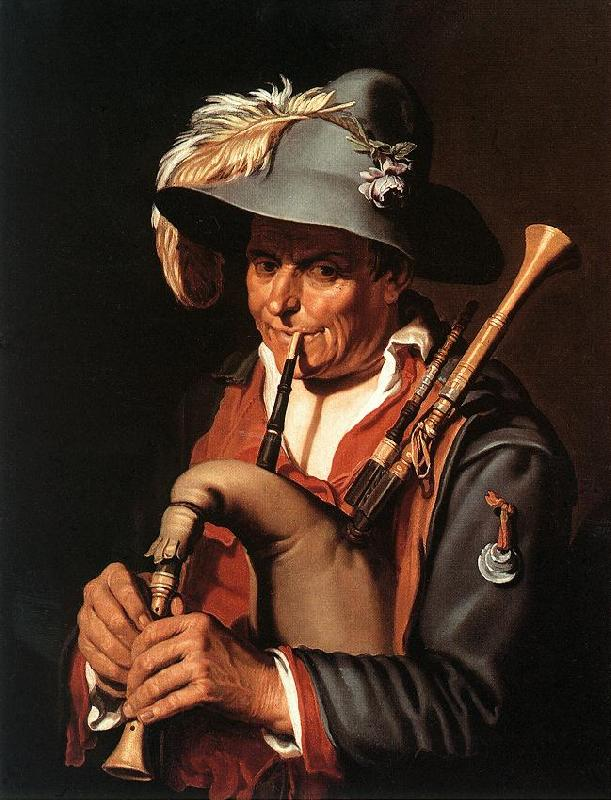 BLOEMAERT, Abraham The Bagpiper ffg France oil painting art