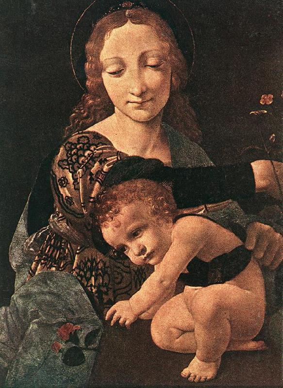 BOLTRAFFIO, Giovanni Antonio Virgin and Child with a Flower Vase (detail) France oil painting art