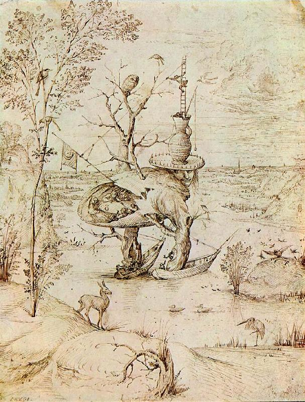 BOSCH, Hieronymus The Man-Tree  bfguty France oil painting art