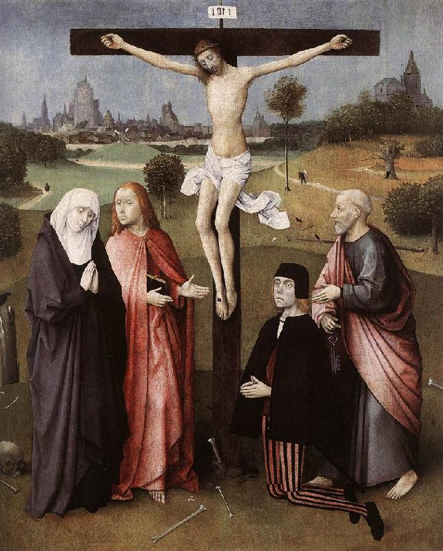 BOSCH, Hieronymus Crucifixion with a Donor  hgkl France oil painting art