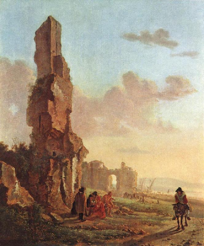BOTH, Jan Ruins at the Sea dfg France oil painting art
