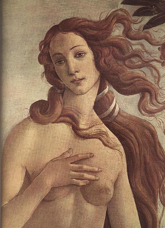 BOTTICELLI, Sandro The Birth of Venus (detail) ff France oil painting art