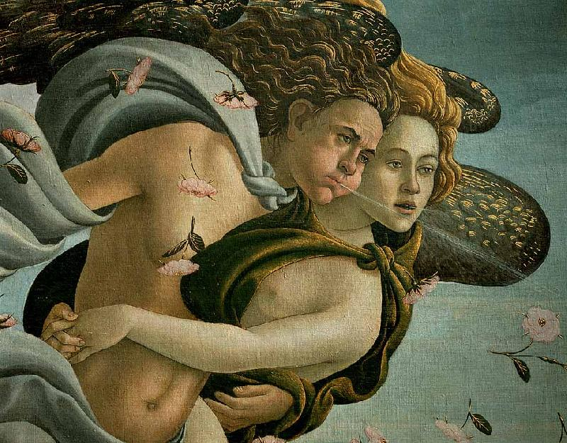 BOTTICELLI, Sandro The Birth of Venus (detail) dsfds France oil painting art