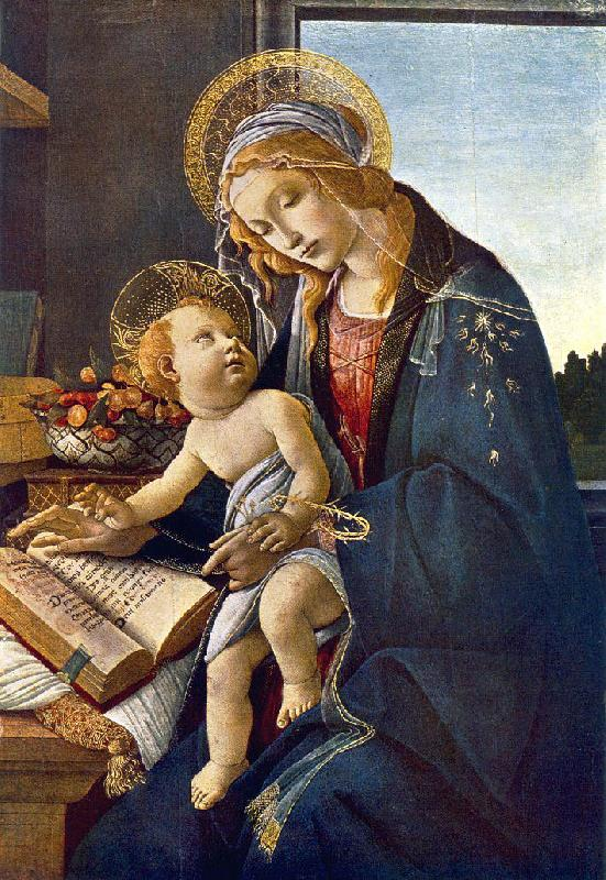 BOTTICELLI, Sandro Madonna with the Child (Madonna with the Book)  vg France oil painting art