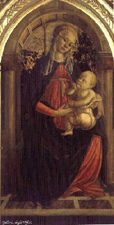 BOTTICELLI, Sandro Madonna of the Rosengarden fhg France oil painting art