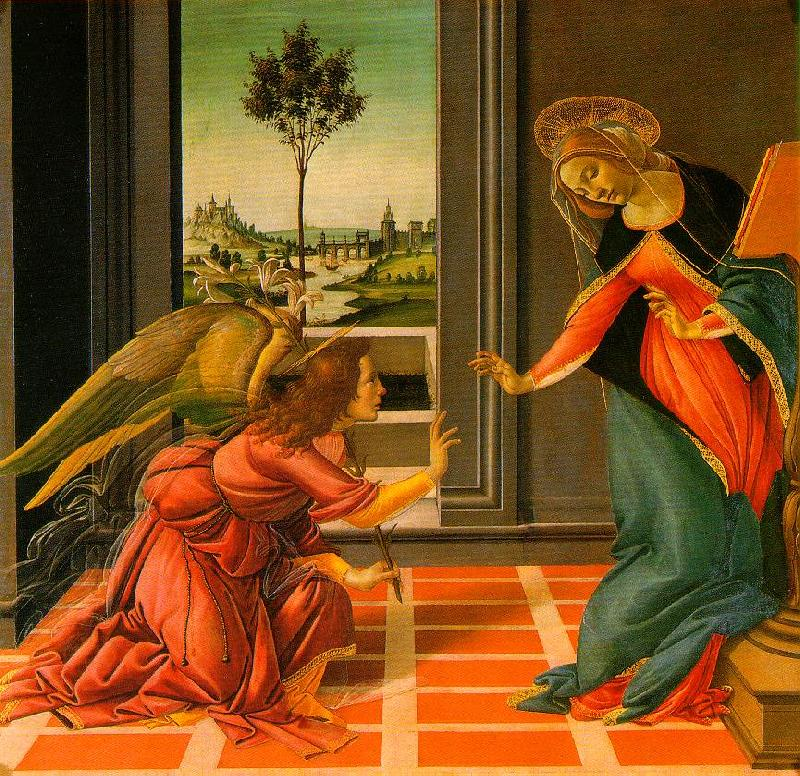 BOTTICELLI, Sandro The Cestello Annunciation dfg France oil painting art