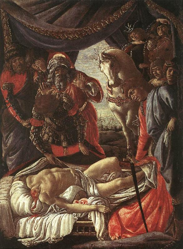 BOTTICELLI, Sandro The Discovery of the Murder of Holophernes bfg France oil painting art