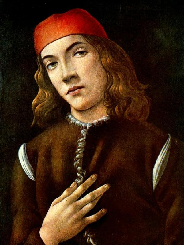 BOTTICELLI, Sandro Portrait of a Young Man  fdgdf France oil painting art