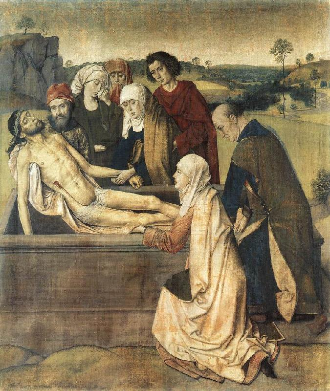 BOUTS, Dieric the Elder The Entombment fg France oil painting art