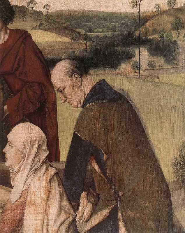 BOUTS, Dieric the Elder The Entombment (detail) fg France oil painting art