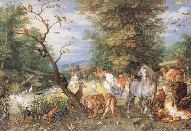 BRUEGHEL, Jan the Elder The Animals Entering the Ark  fggf oil painting image