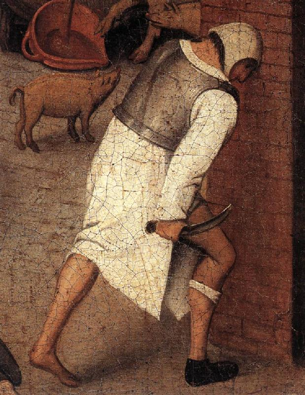 BRUEGHEL, Pieter the Younger Proverbs (detail) ftqq oil painting image